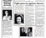 observer feb 1996 anto slavery report jan 1996 & afternoon feb 1996